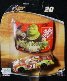 Winner's Circle Nascar #20 Tony Stewart Home Depot Shrek 2 Hood Diecast Car