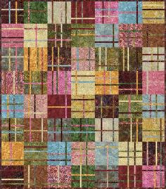Quilt Project using Artisan Batiks designed by Debra Lunn & Michael Mrowka. Robert Kaufman Fabrics is the worldwide supplier of Artisan Batiks.