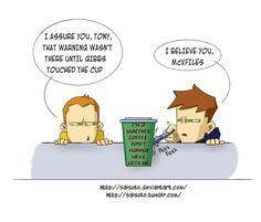 Coffee Shop Love Comics | NCIS - Coffee Cup by Saisoto
