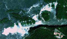 As maravilhas naturais do Brasil vistas do espaço - Foz do Iguaçu