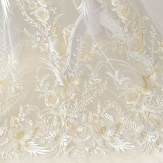 White Gauze Luxurious Bird Floral Embroidered Lace Fabric for Dress,Prom Dress,Bridal dress Lace Fabric,French lace fabric width Bridal Lace Fabric, Embroidered Lace Fabric, Wedding Fabric, Tulle Wedding, Lace Weddings, Tulle Lace, Dress Lace, Yard Wedding, Diy Dress