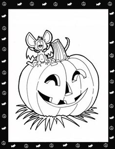 Pumpkin And Mouse Halloween Coloring Pages To Print Out For Free