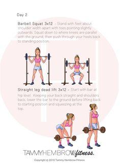 Tammy Hembrow Booty Workout Week 1-4 Day 2 || Tammy Hembrow Fitness
