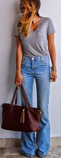 Grey T and Flares
