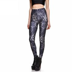 Qickitout Leggings 2016 New Sexy Fashion Women Fitness Leggings Sports Numerical dimensional geometry Pencil Trousers Jeggings Ouija, Cute Leggings, Sports Leggings, Women's Fashion Leggings, One Clothing, 3d Prints, Trendy Fashion, Fashion Women, Fashion Spring