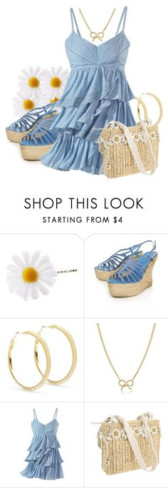 """Belle meets Gold"" by madameregal ❤ liked on Polyvore featuring Castañer, Star by Julien Macdonald, Adina Reyter and Brighton"