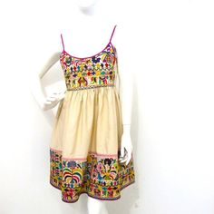 Sweet vintage Embroidered Sundress on Etsy