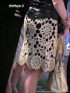 lace crochet skirt