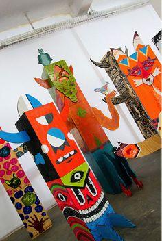 Inkygoodness 'Character Totem', Pictoplasma Character Walk @Neurotitan Gallery, Berlin 2011
