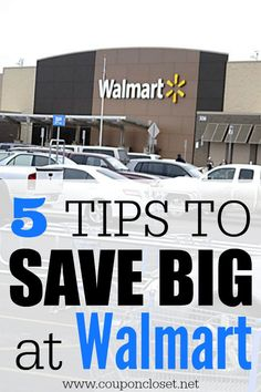 How to Save Money at Walmart easily. Here are 5 easy tips to help you save.