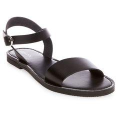 Women's Magnolia Quarter Strap Sandals - Black 7.5