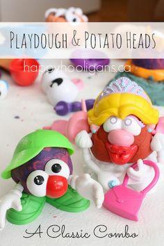 Homemade Play Dough Activity with Mr. Potato Head - Happy Hooligans