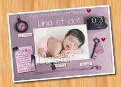 Danksagungskarten Geburt Geburtskarte MUSTER 139 - Bild vergrößern
