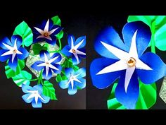 Simple Paper Flower Making Art/DIY/Paper Craft/Paper Art/How To Make Paper Flowers/Flower Bouquet - YouTube Simple Paper Flower, How To Make Paper Flowers, Vj Art, Blue Flowers Bouquet, Flower Making, Diy Paper, The Creator, Channel, Arts And Crafts
