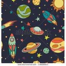 Resultado de imagem para vintage space illustration