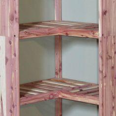 Cedar Corner Shelf Ventilated Closet Organizers Home Accents