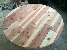 Table Top for Real Reader Showcase for The Design Confidential Round Provence Beam Dining Table