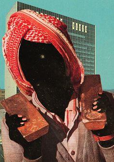 Collage artist Mariano Peccinetti