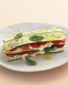 zucchini lasagna with farmer cheese.