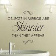 Objects In Mirror Bathroom Wall Decals, Vinyl Art Stickers