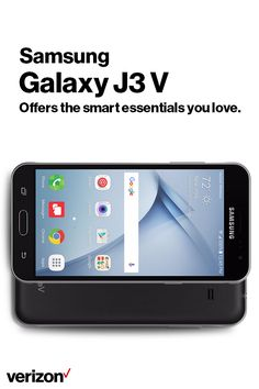 The Samsung Galaxy J3 V offers the smart essentials you love on a phone you can trust. With its 5–inch HD Super AMOLED display, you'll get a bright, full picture every time. Get yours today with Verizon.