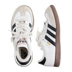 Kids Adidas White Samba Sneakers