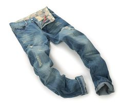 2016 Ripped Jeans For Men Light Blue Streetstyle Hole Designer Stylish Straight Jeans Pants Wholesale 1845 From Jeans1990, $23.44 | Dhgate.Com