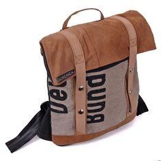 Rucksack aus recyceltem Leder und Postsack von ichichich bei Kult-Design-Unikate
