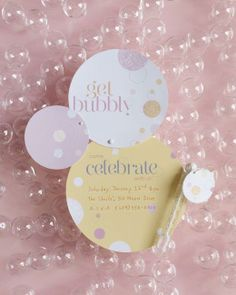 Bubble Invitations How-To