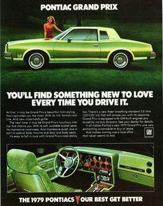 1979 Pontiac Grand Prix ad, very green