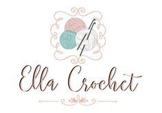Custom logo design crochet yarn logo sew knitting logo