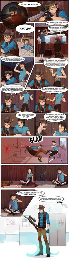 See more 'Team Fortress images on Know Your Meme! Tf2 Comics, Anime Comics, Team Fortress 2, Gamer Humor, Gaming Memes, Dream Daddy Game, Valve Games, Video Game Memes, Funny Memes