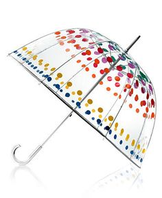 Multicolor dots!  Now it matches everything!  Totes Umbrella, Bubble - Umbrellas - Handbags & Accessories - Macy's