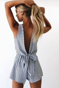 stripes and rompers are always perfect for summer