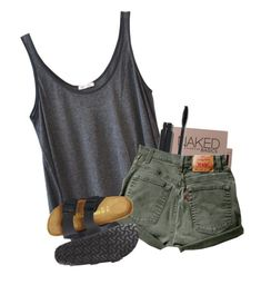 """Girl Pwr"" by kamdanielson on Polyvore featuring American Vintage, Urban Decay and Birkenstock"