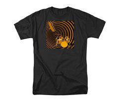 Drums T-shirt Music Instrument Art Flying Eagle by GrayWolfGallery