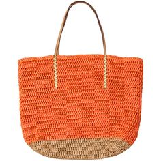 LOFT Straw Beach Bag ($40) found on Polyvore