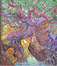 Sacred Forest Game Of Thrones Painted On A Coloring Book December 2017