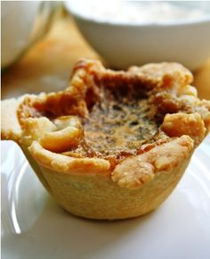Anna Olsen's raisin butter tart recipe - note will cut raisins and maybe add pecans