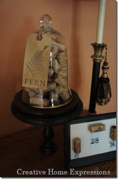 fun, decorative way to display corks