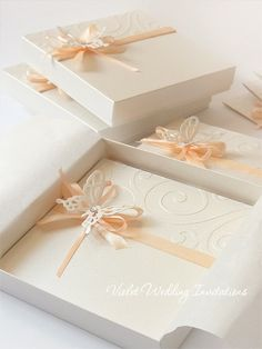 Butterfly Invitation and Box Handmade by VioletInvitations on Etsy