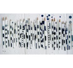 striped paintbrushes.