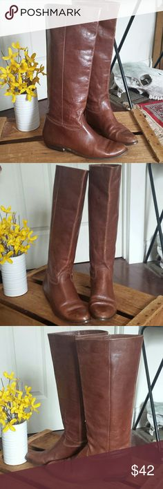 Vintage Nine West Louisa boots Gorgeous vintage boots! Made in Brazil - genuine leather. minor vintage wear but in overall wonderful vintage condition. Sticker from Daytons still on sole of boot. Seriously fab boots! Nine West  Shoes Heeled Boots