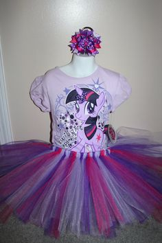 My Little Pony Twilight Sparkle tshirt hairbow and by Tulletime