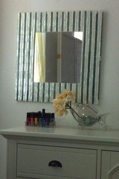 corrugated tin surrounding mirror idea.