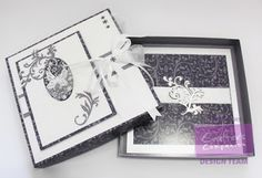 """8x8 Boxed 50th Birthday card - Crafter's Companion Sara Davies Butterfly Lullaby Signature Collection: Filigree Frame embossing folder, Oval 3D Butterfly Die, Fancy Flourishes dies - Crafter's Companion A3 double sided Indulgence card - Centura Pearl Hint of Silver - Die'sire 1"""" Decorative Alphabet and Numbers - #crafterscompanion"""