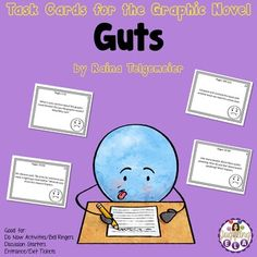 Are you tired of using handouts? Are you looking for a good way to differentiate? Have you tried using task cards? Task Cards are a great teaching tool that can be used in a variety of ways.These task cards are a great accompaniment to students reading the graphic novel Guts by Raina Telgemeier.You ...
