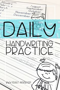 This everyday handwriting practice is perfect for a warm up in your writing center.  My special education students practice writing daily using these practice pages.