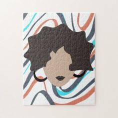 Shop Woman Wavy Black Hair Stylist Beauty Face Jigsaw Puzzle created by DreamBigDigital. Brown Hair, Black Hair, Animal Skulls, Design Products, Dream Big, Pink And Green, Jigsaw Puzzles, Stylists, Girly