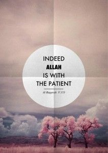 What does being patient mean in Islam, from the New Muslim corner